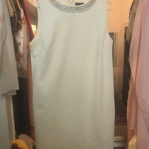 White dress with pearl embellishments 12